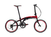 Bicicleta plegable tern Verge black/red rojo/negro